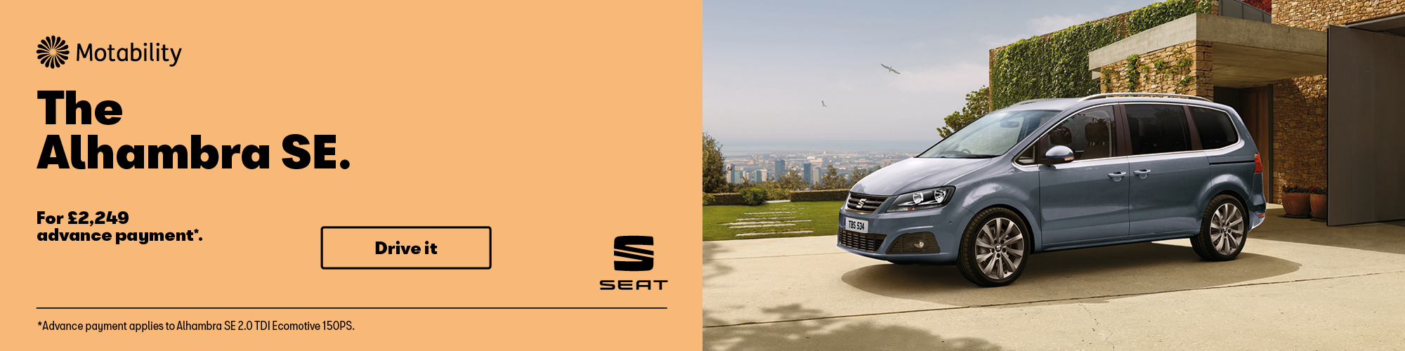 Agnew Autoexchange SEAT Alhambra Motability Offer