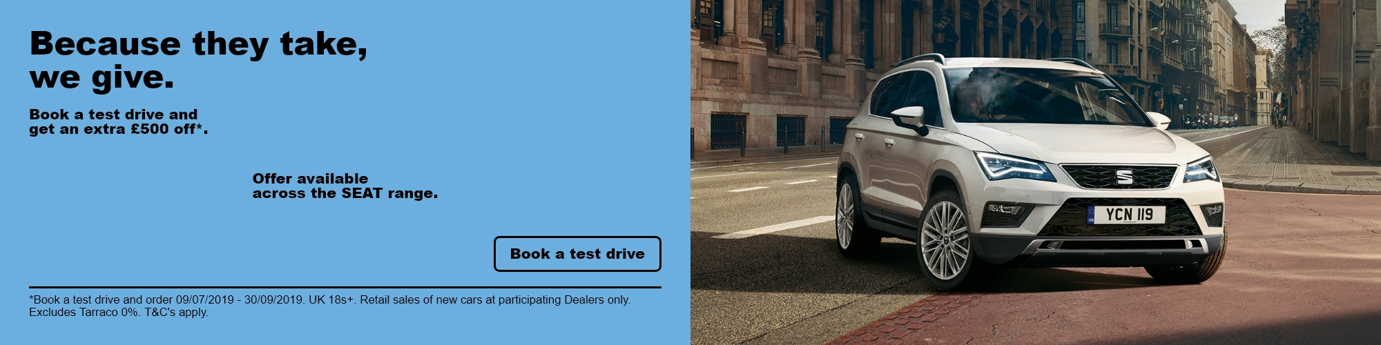 SEAT £500 Test Drive Offer